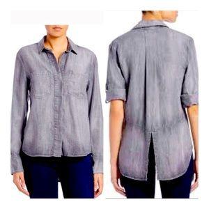 Cloth and Stone Split Back Chambray Shirt